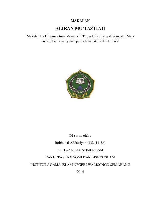 Mu Tazilah Aliran Dalam Ilmu Kalam