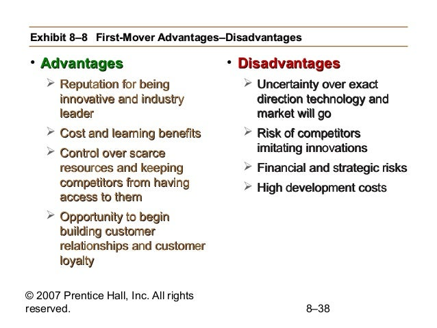 The Advantages and Disadvantages of Innovators