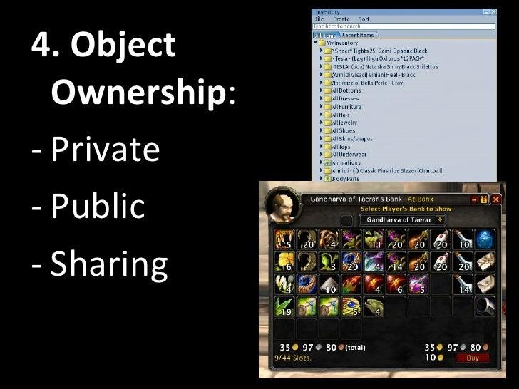 <ul><li>4. Object Ownership : </li></ul><ul><li>Private </li></ul><ul><li>Public </li></ul><ul><li>Sharing </li></ul>
