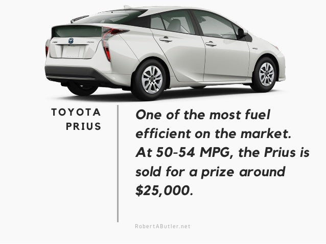 toyota 39 s most fuel efficient vehicles 2017. Black Bedroom Furniture Sets. Home Design Ideas