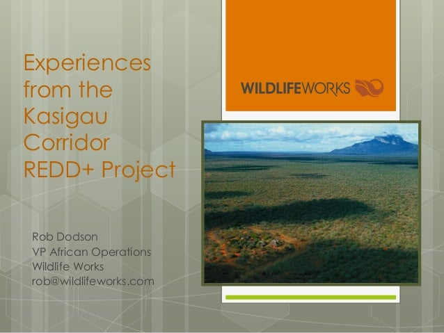 Experiences from the Kasigau Corridor REDD+ Project Rob Dodson VP African Operations Wildlife Works rob@wildlifeworks.com