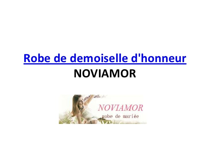 Robe de demoiselle dhonneur         NOVIAMOR