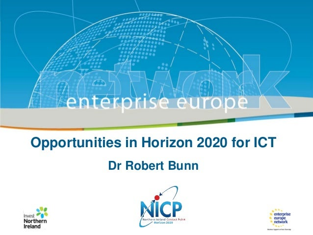 Title of the presentation | Date| |‹#› IRT Teams | Sept 08 ‹#›  Opportunities in Horizon 2020 for ICT Dr Robert Bunn