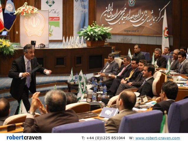 Robert Craven Keynote Speaker in Tehran photos - marketing and strategy Slide 2