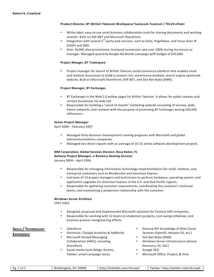 robert crawford web resume rh slideshare net product owner resume pdf product owner resume pdf