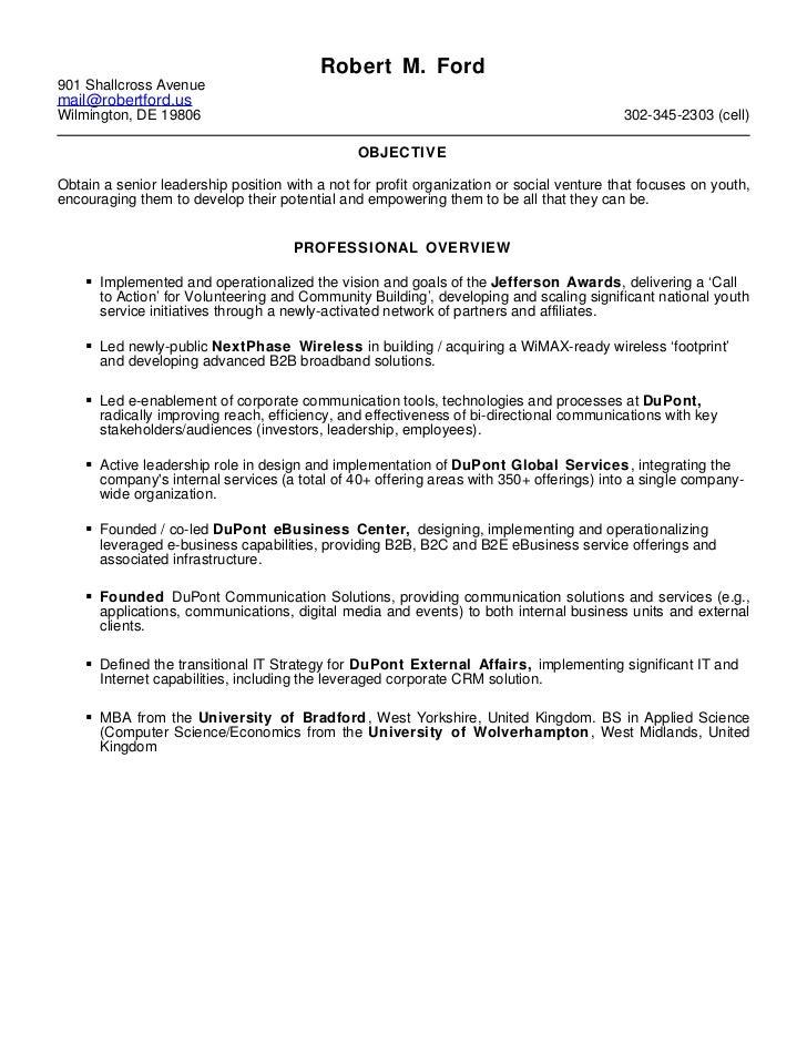 Robert Ford   resume - december 2011