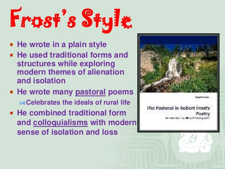 analysis of robert frosts desert places Desert places - online text : summary, overview, explanation, meaning, description, purpose, bio.