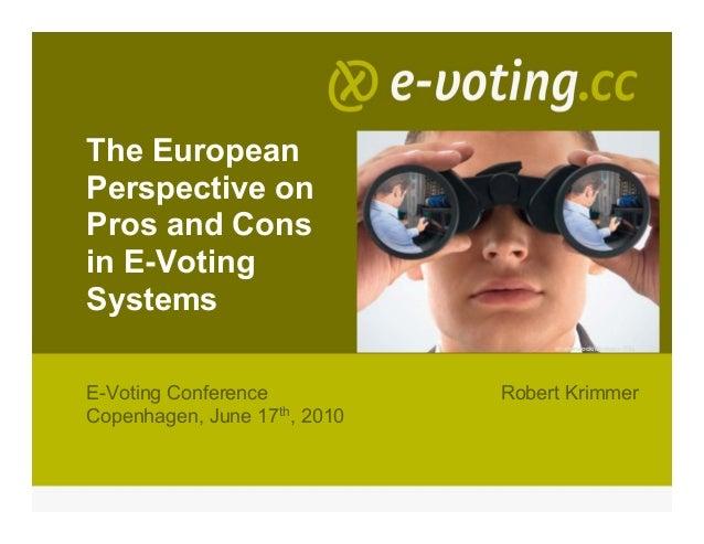 The EuropeanPerspective onPros and Consin E-VotingSystems                                   shutterstock/Montage: E&LE-Vot...