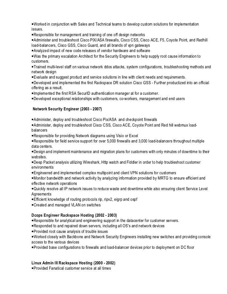 firewall admin resume
