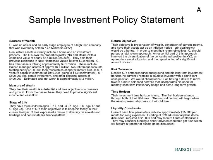Bainco Overview And Wealth Strategies Presentation