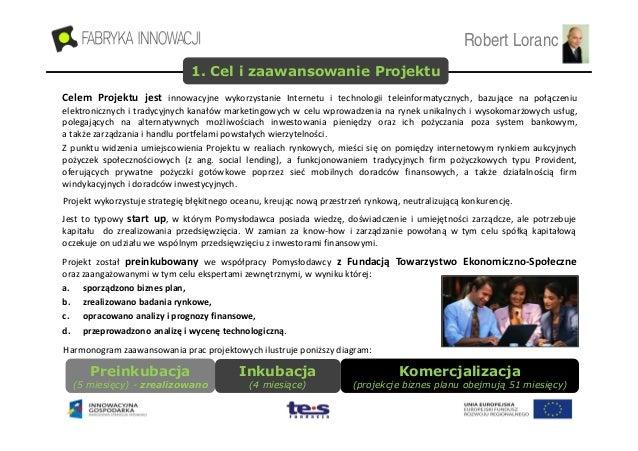 Loranc & Partners - Prezentacja Inwestycyjna projektu SLP (20.09.2010) Slide 3