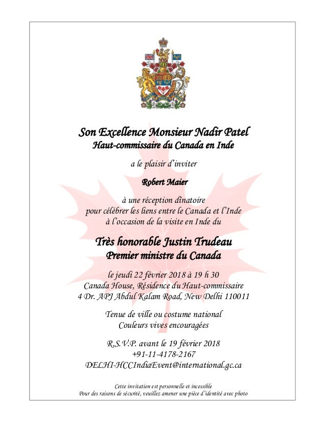 Dynacert news invitation from his excellency nadir patel high commi dynacert news invitation from his excellency nadir patel high commissioner for canada to india stopboris Image collections