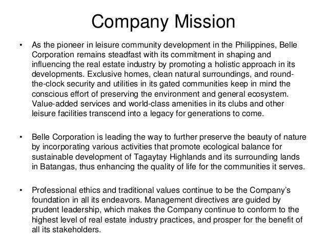 C Belle Property Development Corporation