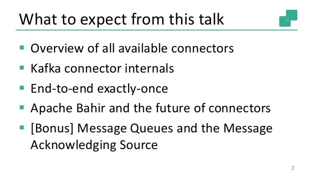 Robert Metzger - Connecting Apache Flink to the World - Reviewing the streaming connectors Slide 2
