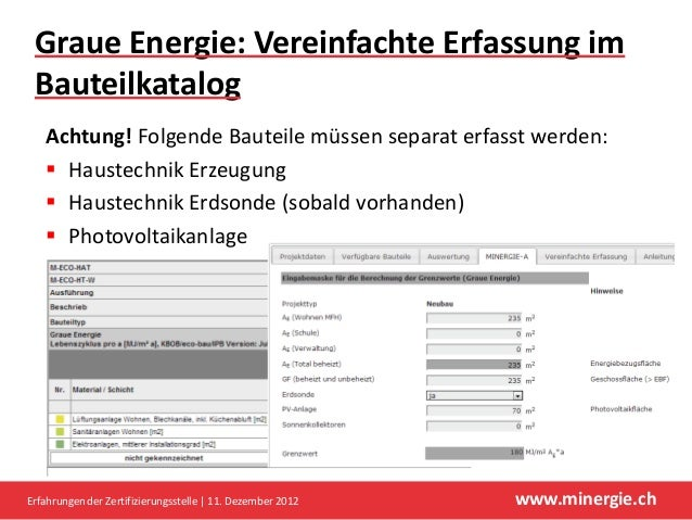 Graue Energie: Vereinfachte Erfassung im Bauteilkatalog   Achtung! Folgende Bauteile müssen separat erfasst werden:    Ha...