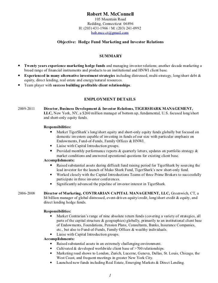Robert M. Mc Connell Resume