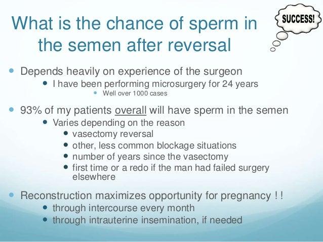 Harvesting sperm post vasectomy
