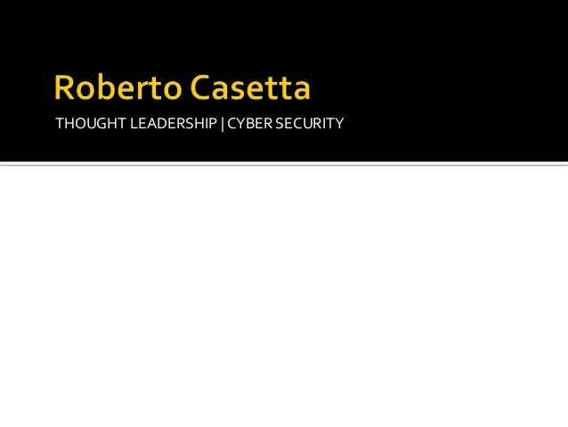 THOUGHT LEADERSHIP | CYBER SECURITY