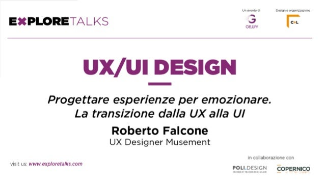 "2 Roberto Falcone, aka ""Bob"", è uno User Experience Designer con un background ibrido all'incrocio tra tecnologia, design,..."