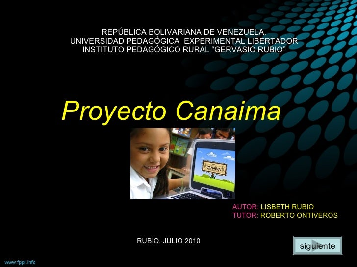"REPÚBLICA BOLIVARIANA DE VENEZUELA. UNIVERSIDAD PEDAGÓGICA  EXPERIMENTAL LIBERTADOR INSTITUTO PEDAGÓGICO RURAL ""GERVASIO R..."