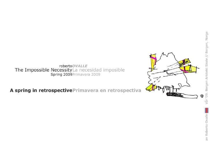 Roberto Ovalle   The Impossible Necessity   Portfolio