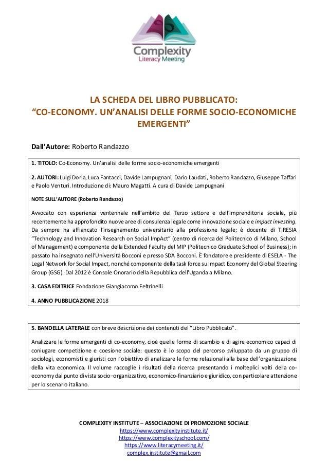 COMPLEXITY INSTITUTE – ASSOCIAZIONE DI PROMOZIONE SOCIALE https://www.complexityinstitute.it/ https://www.complexityschool...