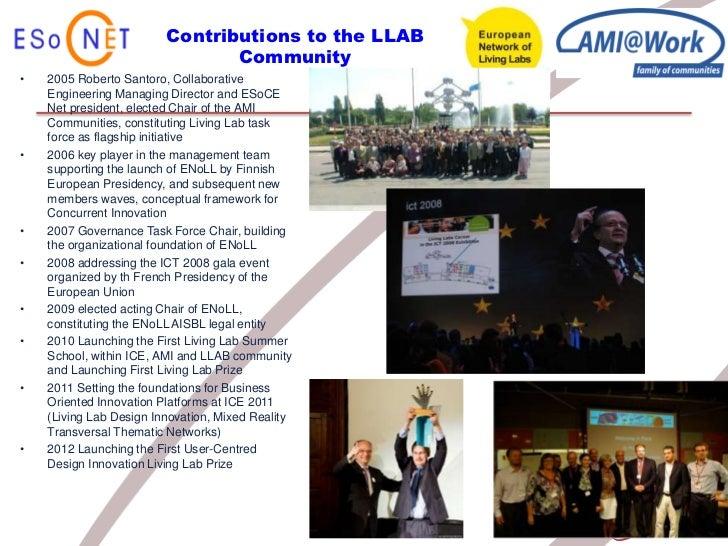Contributions to the LLAB                                Community•   2005 Roberto Santoro, Collaborative    Engineering M...
