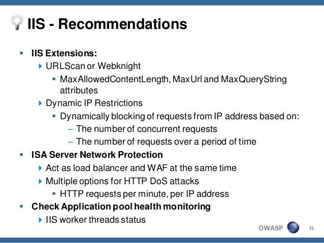 Defending against application level DoS attacks