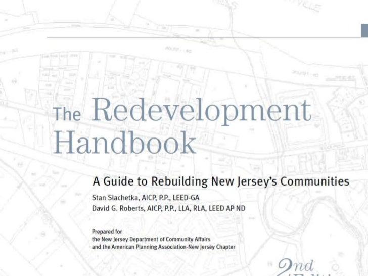 NJ Future Forum 2012 Creating a Redevelopment Agenda Roberts cover