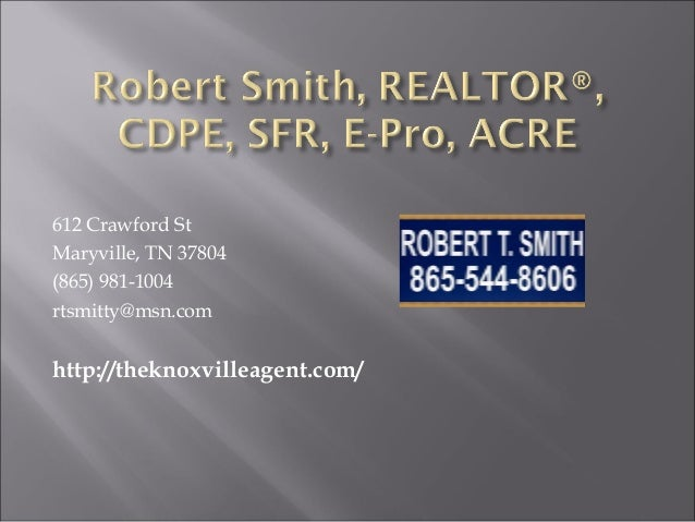 Robert Smith Real Estate Agent Maryville