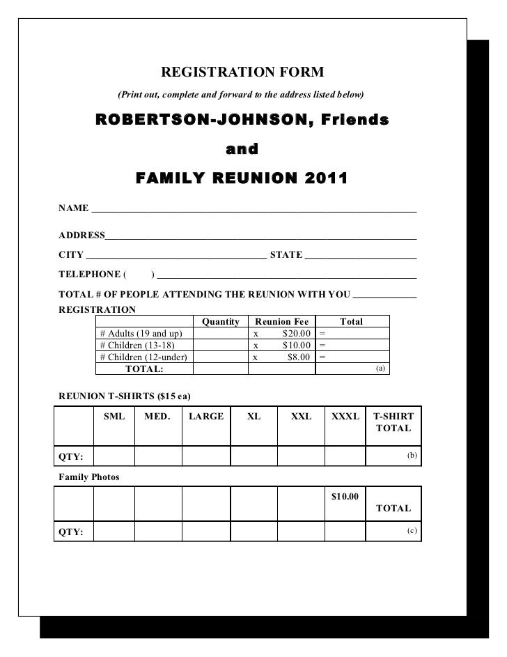 Robertson & Johnson Family Reunion Letter