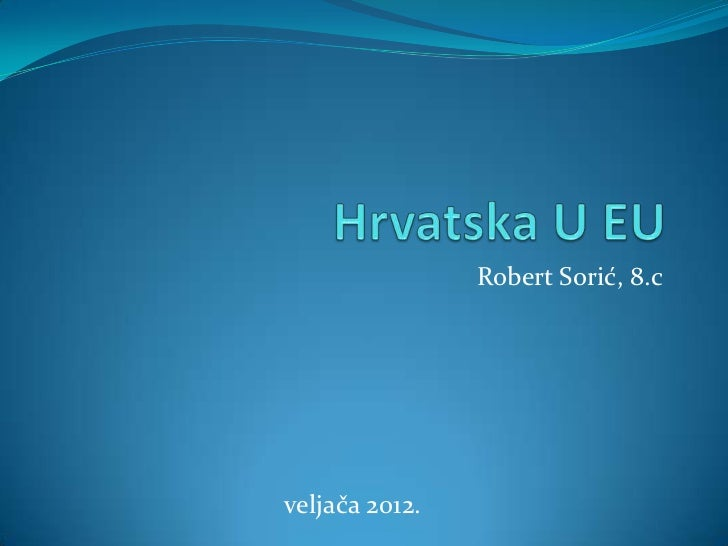 Robert Sorić, 8.cveljača 2012.