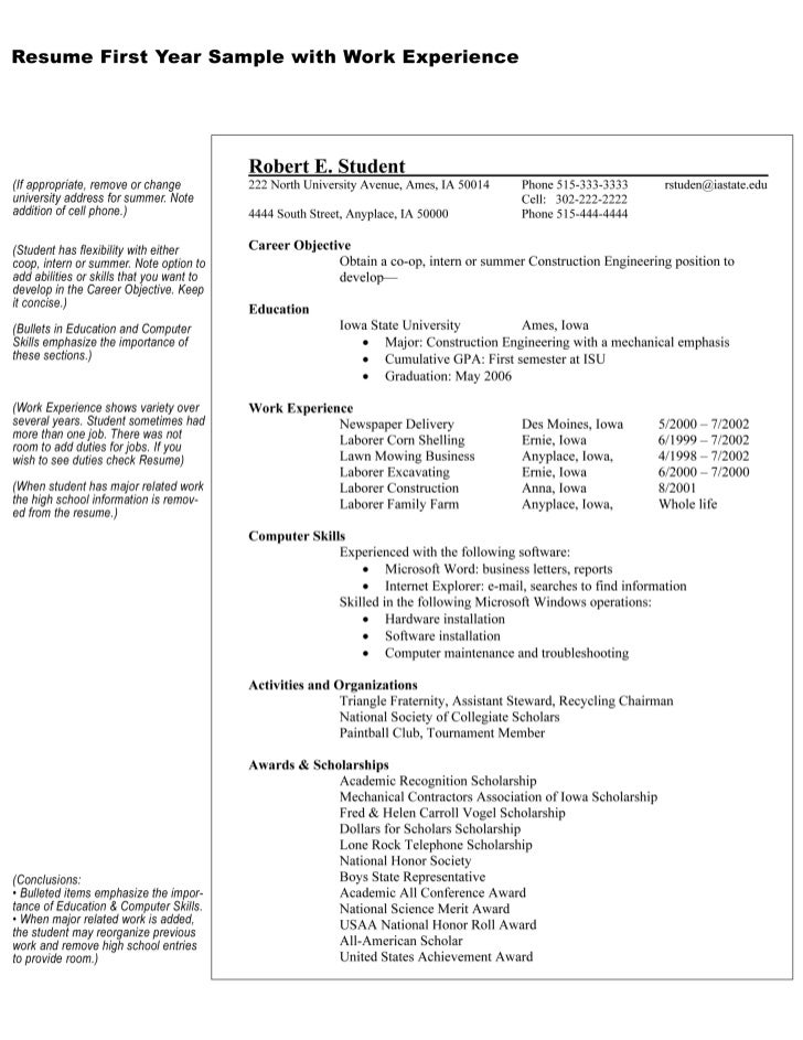 Robertstudent with work exp