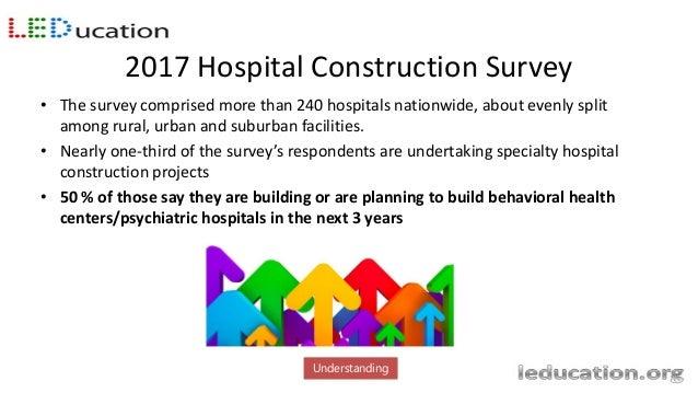 2017 Hospital Construction Survey http://www.hfmmagazine.com/articles/2750-hospital-construction-survey Understanding