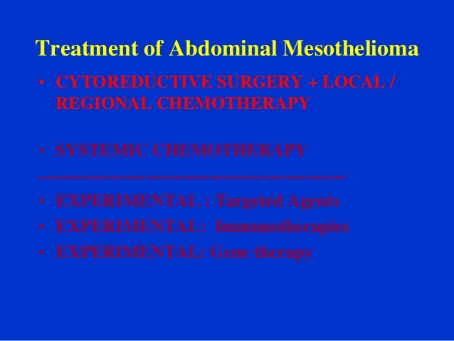 Adam study mesothelioma treatment