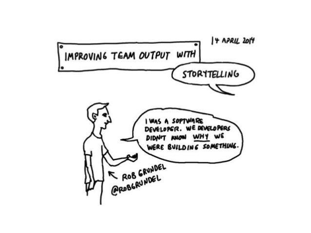 Storytelling in teams - illustrated talk