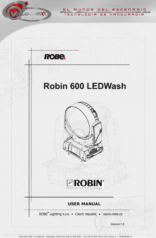 Manual Robin 600 Robe