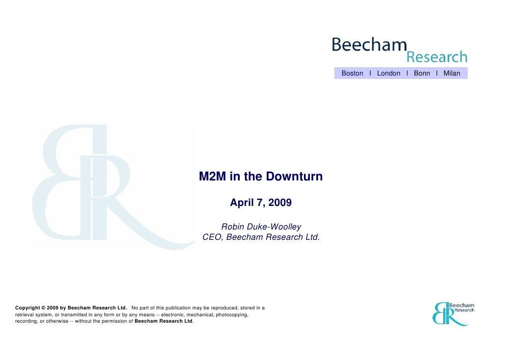 Boston I London l Bonn l Milan                                                                               M2M in the Do...