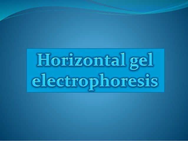 Electrophoresis The Separation of macromolecules under the influence of a uniform electric field through a matrix which is...