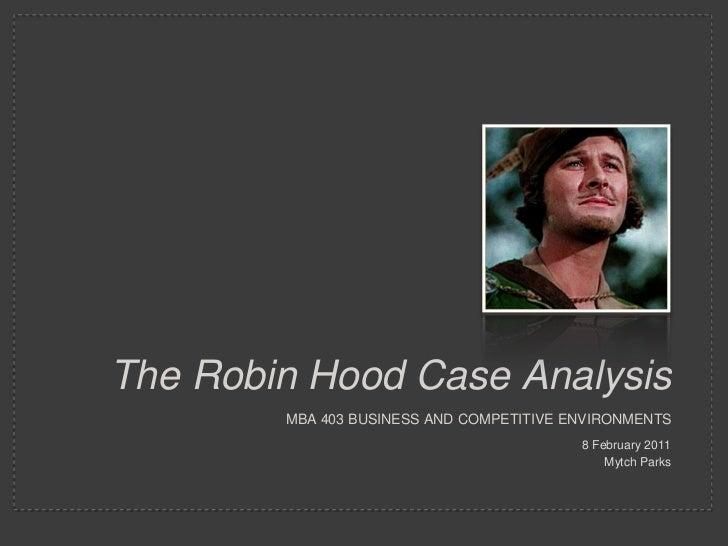 Carl Robins Case Study Analysis - Case Study