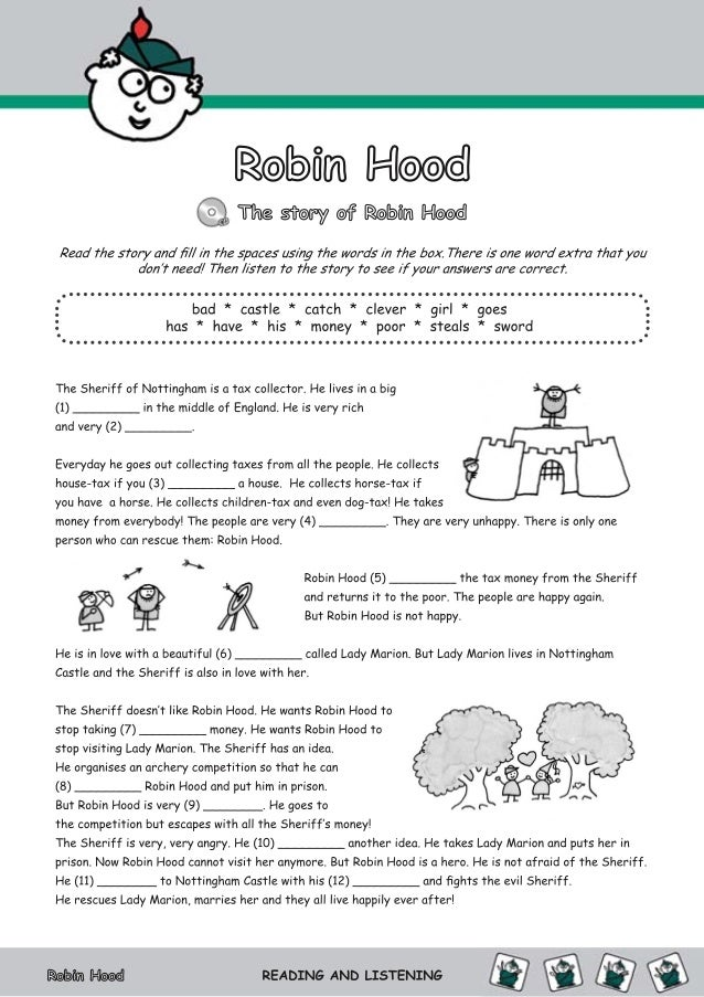 Robin Hood -Activities