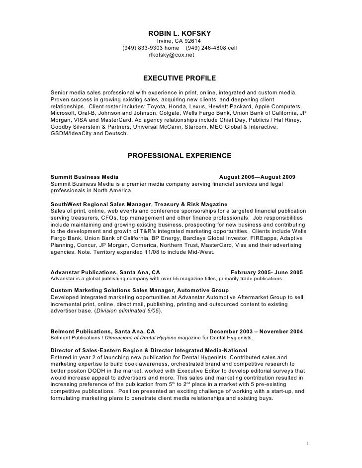 sales resume regional sales manager resume example sales resume - Outside Sales Resume Examples