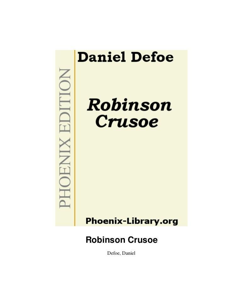 Robinson Crusoe    Defoe, Daniel