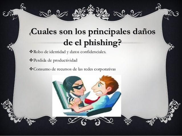 Cuales son los principales daños¿        de el phishing?vRobo de identidad y datos confidenciales.vPerdida de productivida...