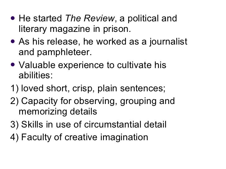 <ul><li>He started  The Review , a political and literary magazine in prison.  </li></ul><ul><li>As his release, he worked...