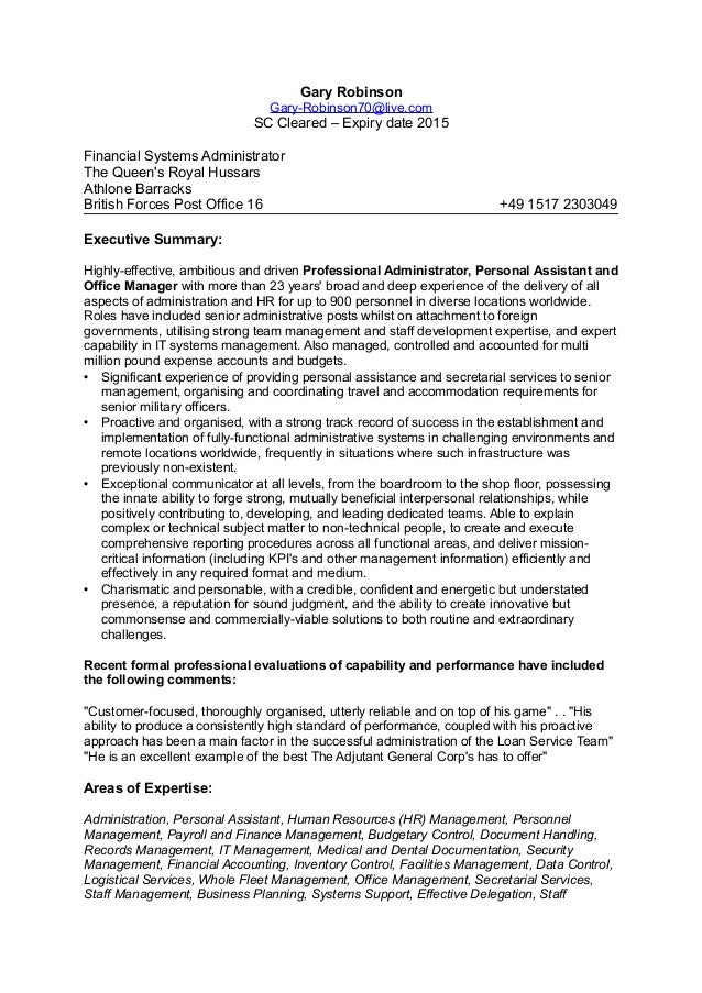 Resume Examples Military To Civilian] How To Write A Military To ...