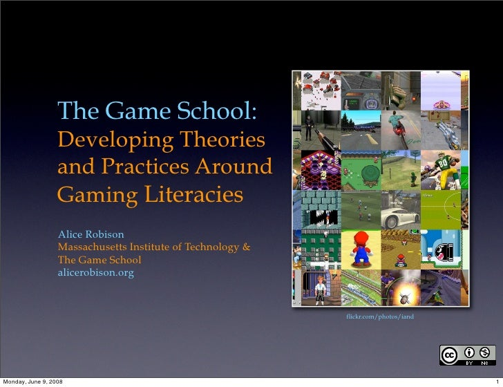 The Game School:                   Developing Theories                   and Practices Around                   Gaming Lit...