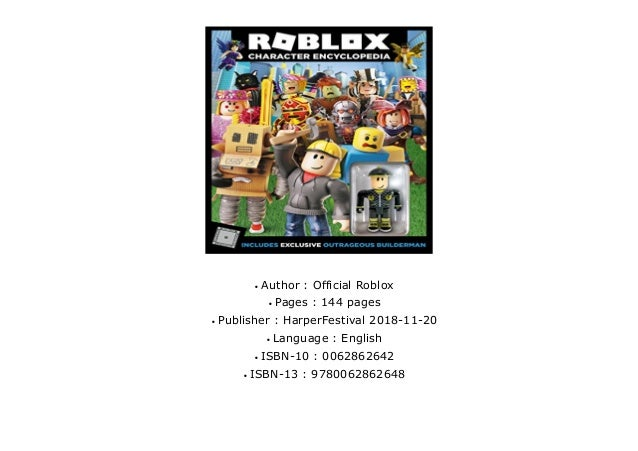 Download Pdf Roblox Character Encyclopedia Robots Official Roblox