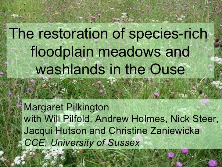 The restoration of species-rich  floodplain meadows and washlands in the Ouse Margaret Pilkington  with Will Pilfold, Andr...