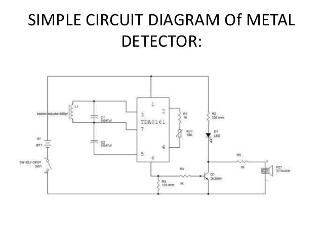 Automated metal detector robotic vehicle with manual control using bl simple circuit diagram of metal detector ccuart Choice Image